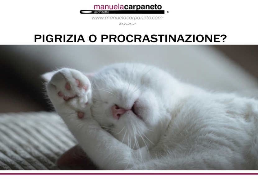 pigrizia o procrastinazione?