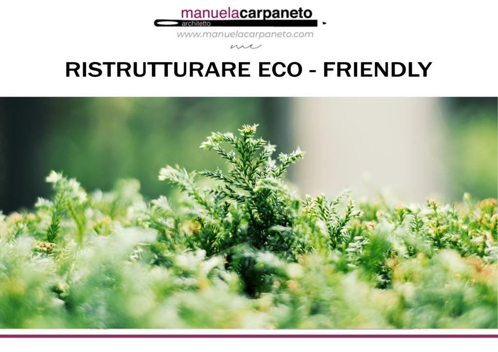 ristrutturare eco friendly