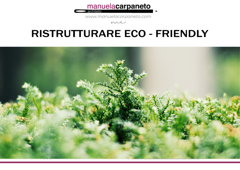 ristrutturare eco friendly